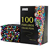Dyvicl Fineliner Fine Point Pens, 100 Colors 0.4mm Fineliner Color Pen Set Fine Point Markers Fine Tip Drawing Pens for Bullet Journaling Writing Note Taking Calendar Agenda Adult Coloring
