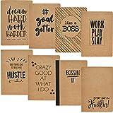 Paper Junkie - Cuadernos de papel de estraza (8 unidades, 80 páginas, 8 diseños, 20,3 x 13,97 cm)