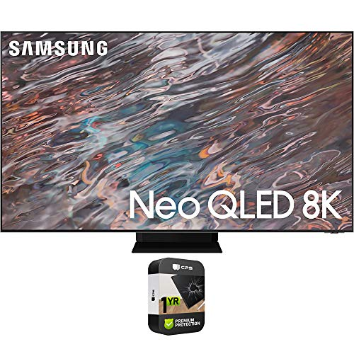 Samsung QN85QN800AFXZA 85 Inch Neo QLED 8K Smart TV 2021 Bundle with Premium 1 Year Extended Protection Plan