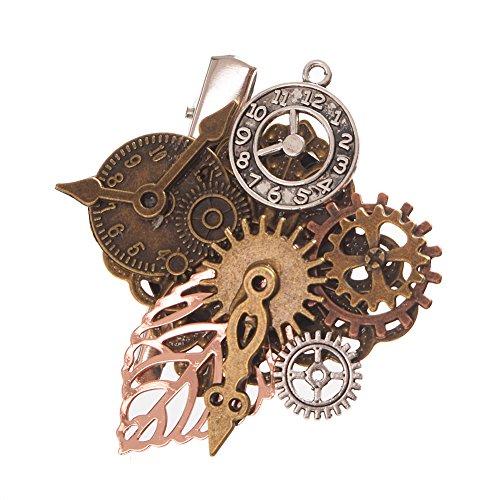 GRACEART Steampunk Gears Clock Hair pin