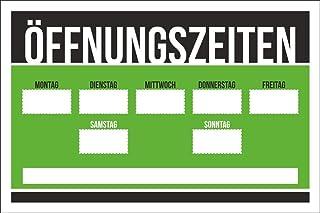 WERBEPUNKT. Schild Öffnungszeiten - Grün 450 x 300 mm