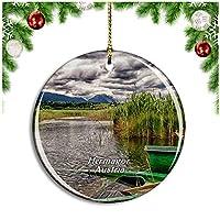 ヘルマゴールオーストリアクリスマスデコレーションオーナメントクリスマスツリーペンダントデコレーションシティトラベルお土産コレクション磁器2.85インチ