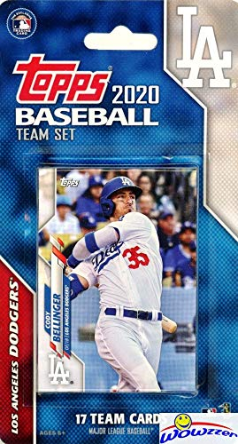 Los Angeles Dodgers 2020 Topps Baseball EXCLUSIVE Special Limited Edition 17 Card Complete Factory Sealed Team Set with Gavin Lux ROOKIE, Cody Bellinger, Clayton Kershaw & Many More Stars! WOWZZER!