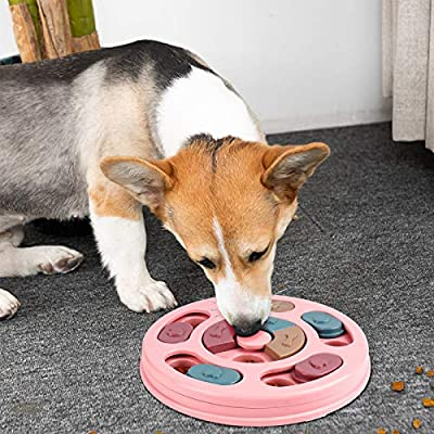 FREESOO Dog Puzzle Toy Puppy Treat Feeder Toys Boredom Interactive Toy Dog Brain Games Treat Dispenser Slow Feeder for Small Dogs Training Playing