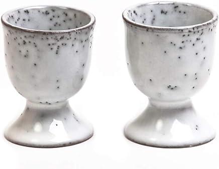 Preisvergleich für Broste Copenhagen Nordic Sand 2 Eierbecher Set sandfarben/grau/beige skandinavisches Design nordisch Eierhalter Eierständer spülmaschinengeeignet Ostern Ostertisch Frühstücksei