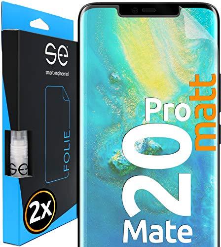 [2 Stück] Entspiegelte 3D Schutzfolien kompatibel mit Huawei Mate 20 Pro, hüllenfreundliche matte Displayschutz-Folie, Schutz vor Schmutz und Kratzern, kein Schutzglas - smart engineered