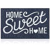 Welcome Mat Home Sweet Home Doormat with Non Slip Rubber Backing Durable Outdoor Door Mat Easy Clean Heavy Duty Indoor Mats for Front Door Entrance