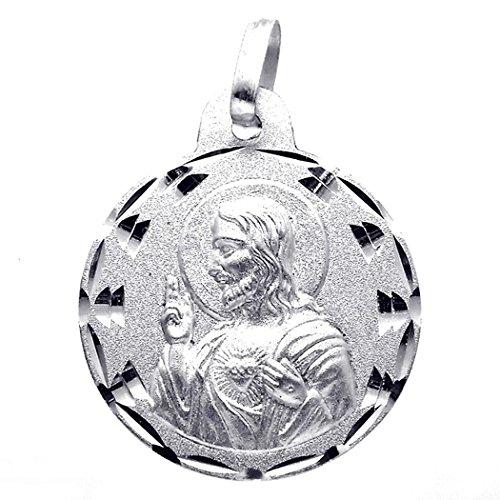 Medalla plata Ley 925m escapulario 21mm. Virgen del Carmen [8239]