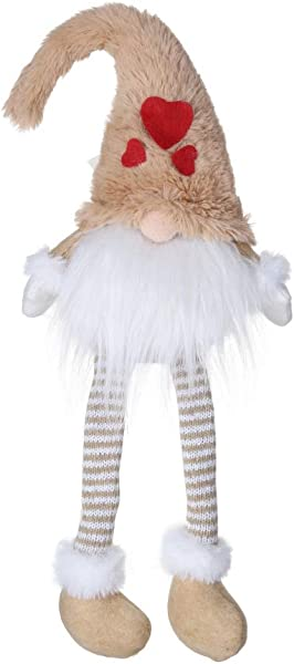 Wishwin Plush Gnome Doll Santa Claus Elf Doll Swedish Christmas Santa With Long Knitted Legs Nordic Elf Figurine