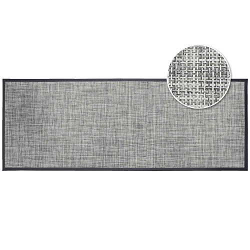 Déco Tapis Verso Tapis Rectangle 45 x 120 cm PVC Tisse Verso PVC, Gris, 40x60 cm