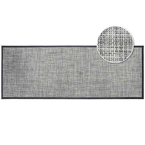 douceur d'intérieur tapis rectangle 45x120 cm pvc verso gris