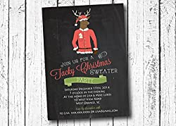 Ugly Christmas Sweater Party Invitations - Party invitation template: ugly sweater party invite template