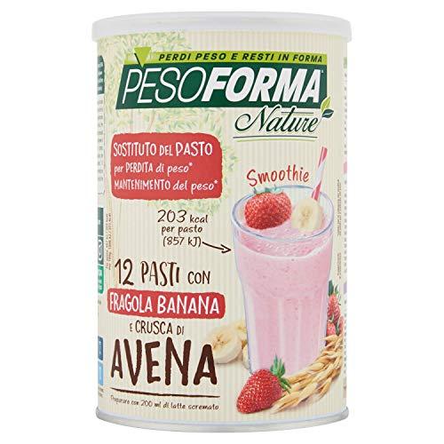 Pesoforma Nature Smoothie Pasto Sostitutivo Dimagrante, Shake dimagrante gusto fragola banana, con...