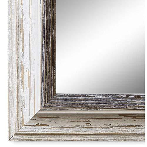 Spiegel Wandspiegel Badspiegel Flurspiegel Garderobenspiegel - Über 200 Größen - Bari Beige Weiß Schwarz 4,2 - Außenmaß des Spiegels 50 x 130 - Wunschmaße auf Anfrage - Antik, Barock