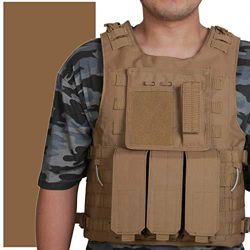 WOLIORS Airsoft Taktische Weste Paintball Schutzweste SWAT Einsatzweste Police Kostüm Plattenträger für MOLLE Zubehör und Magazin Taschen