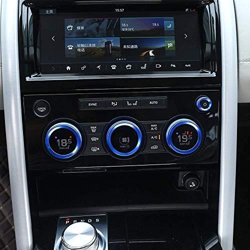 ZFXNB Compatible con Discovery 5 Lr5 2017 Abs Cromado Mate Cubierta De Tapa De Gas Accesorios Y Piezas De Automóvil 1 Pieza, Perilla De Aire Acondicionado Audio Circle Trimblue