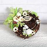 Almohada para anillo de boda, nido de pájaro creativo, propuesta romántica, anillo de boda, cesta, almohada para anillo, decoración de boda, accesorios nupciales-Almohada de anillo Forest Bird's Nest