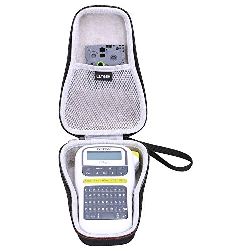 LTGEM - Custodia per etichettatrice Brother P-Touch PTH110 e PT-H100 1-grigio