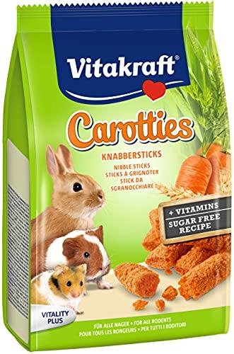 Vitakraft Carotties, Friandises à Grignoter pour tous Rongeurs, Lot de 7 Paquets de 50 g