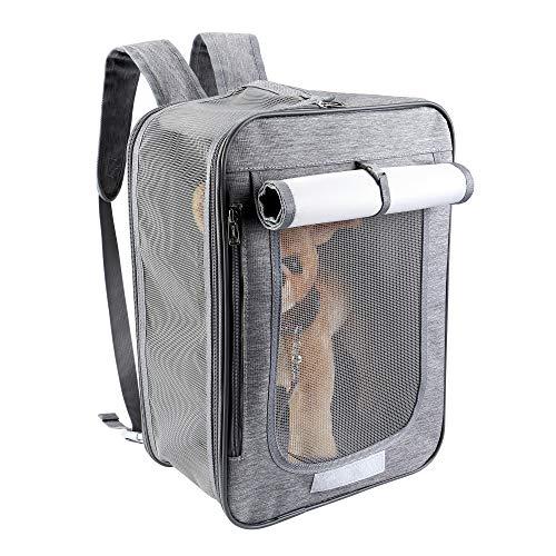 Mogoko Mochilas 2 en 1 para transporte de perros con lados suaves para transportar mascotas, aprobado por aerolíneas, bolsa frontal transpirable para caminar al aire libre y senderismo