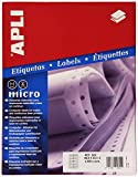 Apli 822 - Caja de etiquetas ordenador para impresoras matriciales en papel continuo, 88,9 x 23,3 mm, 1 unidad (4008 pcs.)
