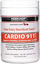 New Mixed Berry Flavor - Cardio 911 - Nitric Oxide Formula - L-Arginine Supplement 5000mg + L-Citrulline 1000mg, (16.82 Oz. Powder) - Coq10 100mg - Plus More Heart Health Ingredients, 30 Day Supply