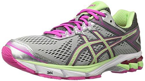 ASICS Women's Gt-1000 4 Running Shoe, Silver/Pistachio/Pink Glow, 9.5 M US