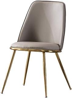 FDN Cocina Sillas De Cocina Vintage,Cuero De La PU Hogar Respaldo Silla De Maquillaje Estilo Vintage Dining Chairs Sillas de Comedor (Color : Light Gray)