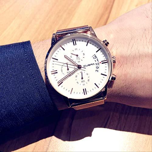 Auténtico Reloj De Moda para Hombre, Reloj De Cuarzo Informal Simple, Impermeable, Cinturón Luminoso, Multifuncional, Nuevo Reloj para Hombre