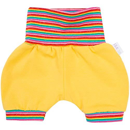 "Lilakind"" Baby Kinder Shorts Sommerhose Kurze Hose Jersey Gelb Streifen Bunt Gr. 62/68 - Made in Germany"