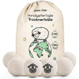 Bolas para secadora - El suavizante natural de 100% lana de oveja - [6x] XXL Pelotas de secadora para chaquetas de plumas- Bolas para la ropa, de lana, como suavizante, plumón - Bolas de fieltro XXL