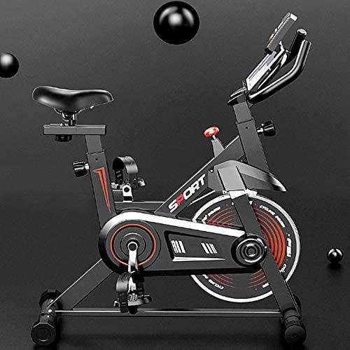 AAGYJ Vehículo de musculación, Bicicleta estática, Bicicleta de Ciclismo para Interiores, con Monitor Digital LCD y Soporte para teléfono, Bicicleta estática