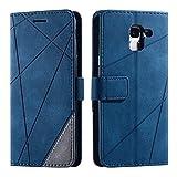 Galaxy J6 2018 Case, SONWO Premium Leather Flip Wallet Case