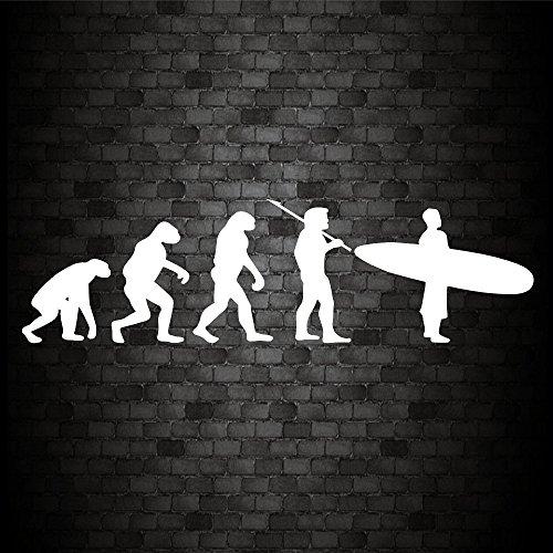 EVOLUTION SURF MAN Pegatina divertida para coche, furgoneta, bicicleta, caravana, parachoques de...