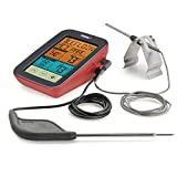 Polder THM-399 Digital Touch-Screen BBQ and Smoker Thermometer, Dual Probes, 9 USDA Safe