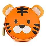 boppi Tiny Trekker Portamonete portachiavi da viaggio piccolo borsellino da viaggio borsetta portachiavi con zip - Tigre