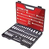 Get CARBYNE 62 Pc Master Torx Bit Socket Set & Torx External Socket Set, S2 Steel Bits, CrV Sockets | 1/4-inch, 3/8-inch & 1/2-inch Drive Just for $62.88