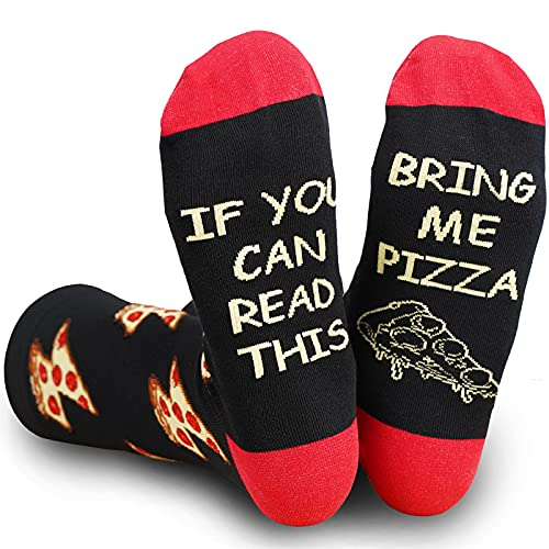 Taco Pizza Socks Funny Gifts for Taco Pizza Lovers If You Can Read This Novelty Food Socks for Women and Men