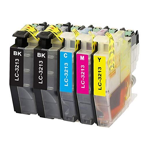 Teland LC3213 - Cartucho de tinta compatible con Brother LC-3213 LC-3211 para DCP-J774DW MFC-J895DW MFC-J491DW MFC-J497DW DCP-J572DW DCP-J772DW MFC-J890DW (5 unidades)