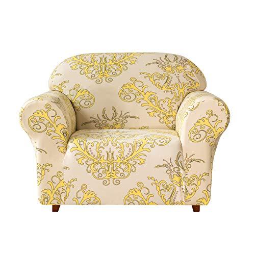 Subrtex Sofabezug mit Muster Blumen Stretch Sofahusse Elastisch Sesselhusse mit Armlehne Couch...