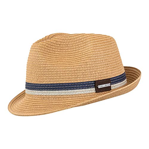 CHILLOUTS CHILLOUTS Fort Myers Hat S/M Braun | Herren Hut | Trilby Strohhut | verstellbar