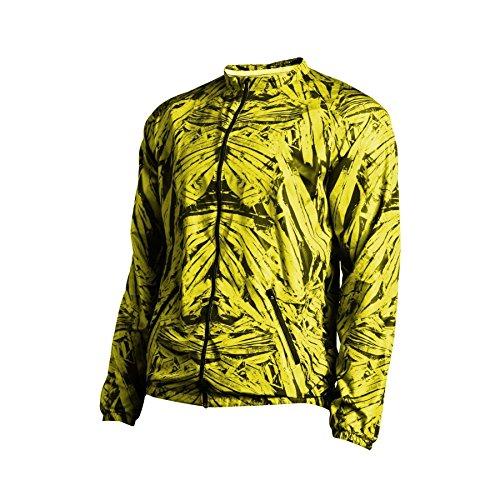 Nessi Veste Coupe-Vent Veste de Course OWM Veste de Sport Fitness Veste Veste de survêtement XL Yellow Crystals 32