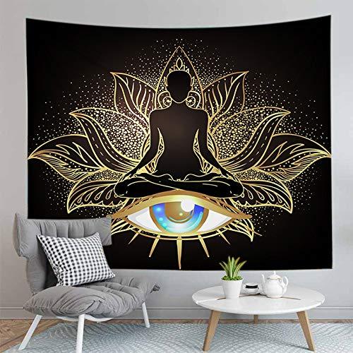 PPOU Tapiz de Buda Bohemio 3D, Alfombra de Montaje en Pared, Alfombra de Yoga, decoración de la Pared del hogar, Tapiz de Tela de Fondo, Montaje en Pared, A11 180x200cm