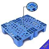 LIANGJUN-Palés Pallet plástico Almacén Respirable Cuadrícula La Seguridad Robusto Almacenamiento Bienes Comida Supermercado Exterior Interior, Tamaño 3 (Color : Blue-b, Size : 42x50x12cm)
