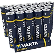 Varta Energy 4103229224 AAA Ministilo LR03 Batterie Alcaline, Confezione da 24 Pile, Blister risparmio
