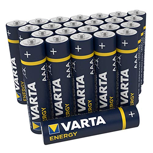 VARTA Energy AAA Micro LR03 Batterie (24er Pack) Alkaline Batterie - Made in Germany - ideal für Spielzeug Taschenlampe und andere batteriebetriebene Geräte