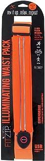 DM Merchandising, FIT-LTEORG Fitzip Illuminating Waist Pack, Led, by Fit kicks, Orange, Multicolor