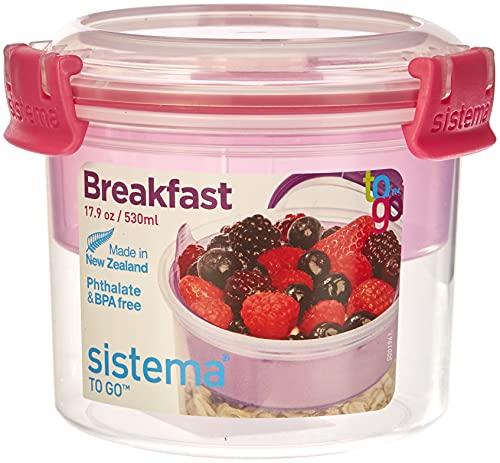 Sistema - Recipiente portátil compacto para desayuno