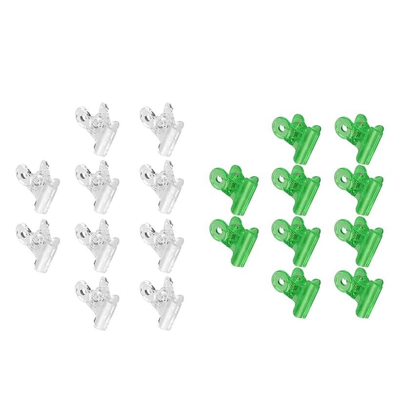 有罪ロバ宇宙船CUTICATE ネイルクリップ ネイルアート ジェルネイルポリッシュ クリーナー ネイルツール ネイルクリップ 全3種 - グリーン+クリア