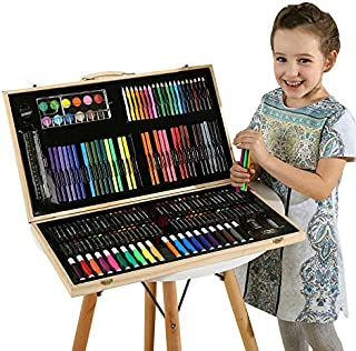 KARP 180 Pcs Color Deluxe Wood Art Drawing Set Art Supplies for Kids, Teens and Adults in Wooden Case Studio Art and Craft...
